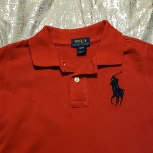 Polo red, collared - big pony w/big 3  shirt sz 4T